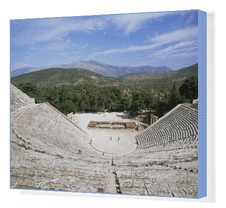 Canvas Print of Ancient Greek theatre