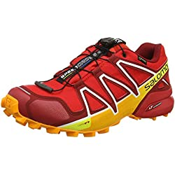 Salomon Speedcross 4 GTX Zapatillas De Trail Running Para Hombre Fiery Red Dalhia / Bright Marigol