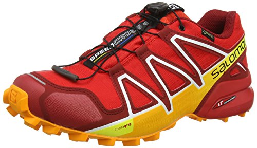 Salomon Herren Speedcross 4 GTX Trailrunning-Schuhe,rot (fiery red/red dalhia/bright marigol), 44 EU