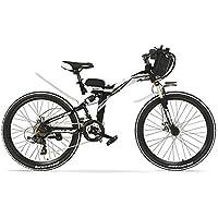 LANKELEISI K660 24 Pulgadas, Bicicleta eléctrica Plegable de 48V 240W, suspensión Completa, Frenos