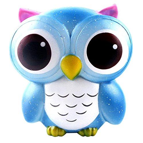 VENMO 15cm Schöne Galaxy Eulencreme duftend Squishy Langsam steigende Squeeze-Spielzeug-Sammlung Dekompression Spielzeug Weichen Spielzeug FüR Kinder Erwachsene Entlasten Stress Geschenk (blue)