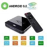 Android 9.0 Mini TV-Box H96 TV Box RK3328A Smart Media-Box 2 GB + 16 GB Support 4K 2.4/5G WiFi 3D Ultra HD H.265...