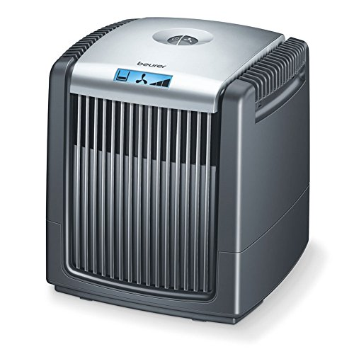 Beurer LW 220 Luftwäscher und Luftbefeuchterin einem Gerät (sehr energiesparender Luftreiniger mit maximal 7 Watt, Luftwäscher für Räume bis 40 m² geeignet, einfach zu reinigen) schwarz