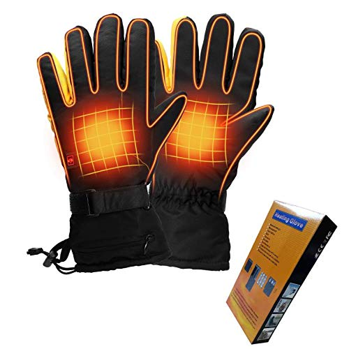 Housefar Beheizte Handschuhe 3 Stufen Temperaturregelung Handwärmer wasserdichte Elektrische Beheizbare Handschuhe für das Skifahren im Freien Radfahren Reiten Jagd Angeln Wandern