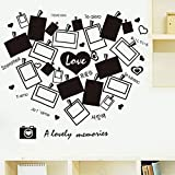 Gleecare Wandaufkleber Abnehmbare Liebe Mauer dekorative schwarz-weiß Foto Schlafzimmer Wohnzimmer Fotohintergrund Wandtattoo