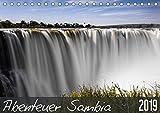 Abenteuer Sambia (Tischkalender 2019 DIN A5 quer): Wildnis zwischen Sambesi, Luangwa-Tal und Victoriafällen (Monatskalender, 14 Seiten ) (CALVENDO Orte) - Carsten und Stefanie Krüger