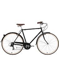 Bobbin Beat Bicicleta urbana, Unisex adulto, Negro, 52