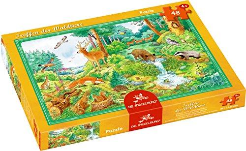 Boîte puzzle - Rendez-vous des animaux des bois Die Spiegelburg 48 pièce