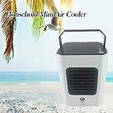 Famiglia Mini Portatile USB Ricarica Umidificazione Dell'aria Aria Condizionata Ventilatore di Raffreddamento Dell'aria / 20x 20x15cm / Velocità del Vento Regolabile Silenzioso Efficiente/Bianco