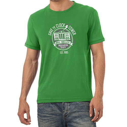 NERDO - Save the Clock Tower - Herren T-Shirt Grün