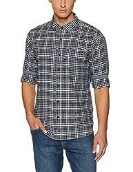 Tommy Hilfiger Mens Casual Shirt (8907504020454_A6ATW015_L_Black Iris)