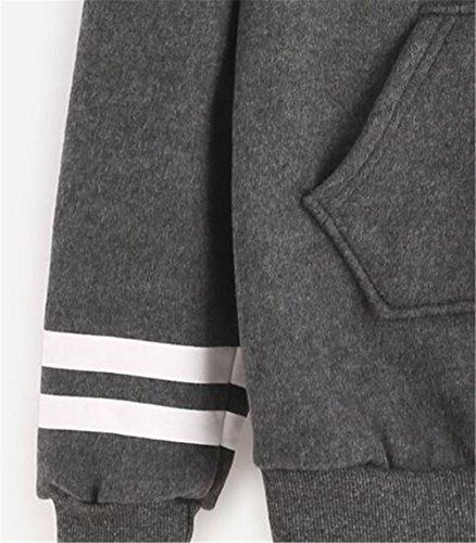 Haililais Femmes Mode Loose Pull à Capuche Basique Hoodie Casual Sweatshirt Automne Hiver Lettres Sweats à Capuche University Chaud Pullover Avec Poche gray