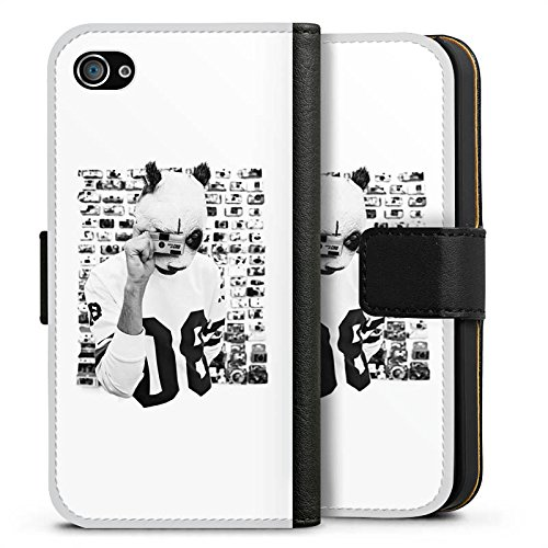 Apple iPhone 5 Hülle Premium Case Cover Cro Merchandise Fanartikel Polacroid Sideflip Tasche schwarz