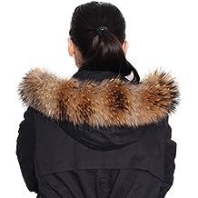 Dancel de pelo Mujer Bufanda Bufanda F ¨ ¹ r abrigo de invierno Cuello o capucha