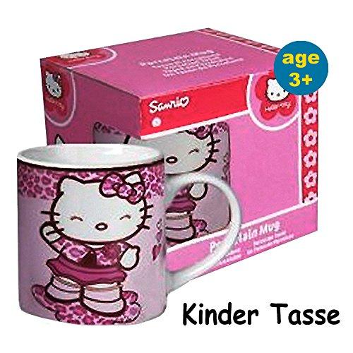 (Hello Kitty Porzellan Kinder Tasse 1 Stück - geeignet für Kinder 2 + Jahre!)