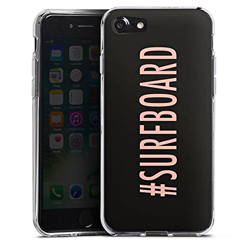 Apple iPhone X Silikon Hülle Case Schutzhülle Surfboard Flawless Statement Silikon Case transparent