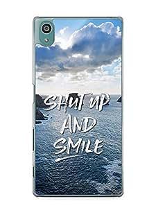 YuBingo Shut Up and Smile Designer Mobile Case Back Cover for Sony Xperia Z5