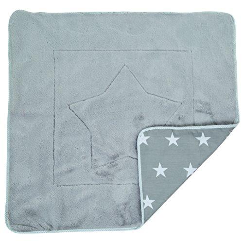 roba Babydecke 'Little Stars', Decke zum Kuscheln, Krabbeln & Spielen, 2 seitig, 2 Funktionen: 1x super weich, warm & flauschig, 1 x 100% Baumwolle Star Zubehör