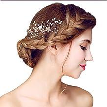 YAZILIND tocado belleza de la mujer nupcial de la boda peine Barrette fiesta rhinestones flores de aleaci¨®n de pelo mujeres accesorios