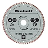 Einhell 4301176 disco de diamante Disco de diamante con borde turbo 18 cm - Discos de diamante (Disco de diamante con borde turbo, 2,54 cm, 18 cm, 310