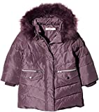 NAME IT Mädchen Jacke NMFMELA DOWN Jacket Camp, Violett Detail: with Arctic Dusk Color Fur, 104