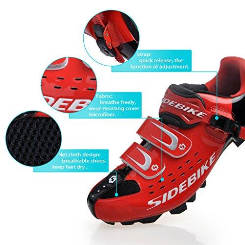 Chaussures vélo de VTT / Route Homme Femmo SD-001 VTT-rouge et noir