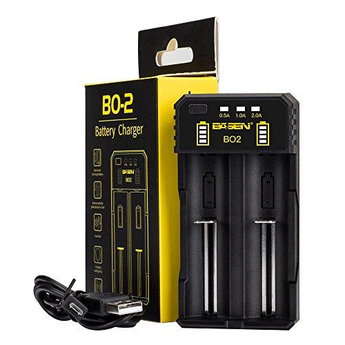 Basen 18650 Cargador de batería Recargable de Litio, Speedy Cargador Inteligente para baterías Recargables de Ion-Litio IMR 10440 14500 14650 16340 16650 17650 17670 18350 18490 18500