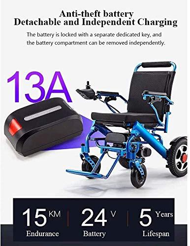 518zRw61ZRL - Silla de ruedas eléctrica, nuevo control remoto plegable ligero y ligero Silla de ruedas eléctrica motorizada, Scooter de silla de ruedas eléctrica motorizada ligera plegable y de viaje 2019.