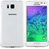Samsung Galaxy Alpha Hülle in Transparent - Silikonhülle Case Schutzhülle Tasche für Samsung Alpha (Rutschfest)
