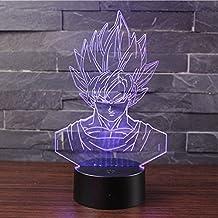 Lampara LED Dragon Ball Z Goku Cambia Color USB Luz Nocturna