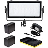 VIBESTA Capra20B Bi-Color LED Panel Light with 2x NP-F960 Battery, Dual Charger and AC Adapter
