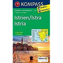 Istrien / Istra / Istria: Wanderkarte mit Aktiv Guide, Radrouten und Ortsplänen. 1:75000 (KOMPASS-Wanderkarten, Band 238)