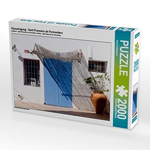 Preisvergleich Produktbild Hauseingang - Sant Francesc de Formentera 2000 Teile Puzzle quer (CALVENDO Orte)