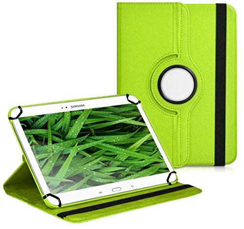 Premium Universal-Hülle für Tablet-PC ACME Tremendous TB1016 10 ZOLL mit DREHFUNKTION und HALTER / STÄNDER-FUNKTION Schutz-Case Flip-Tasche Cover Grün