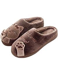 SAGUARO® Inverno Pantofole Home Morbido Antiscivolo Cotone Scarpe Caldo Peluche Casa Pattini per Donne Uomini