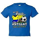 Camiseta niño De tal palo tal astilla Las Palmas fútbol - Azul Royal, 3-4 años