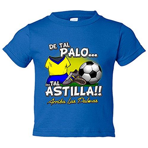 CAMISETA NIÑO DE TAL PALO TAL ASTILLA LAS PALMAS FUTBOL   AZUL ROYAL  3 4 AÑOS