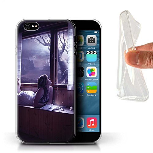 Officiel Elena Dudina Coque / Etui Gel TPU pour Apple iPhone 6+/Plus 5.5 / Feuilles séchées Design / Art Amour Collection Distraits