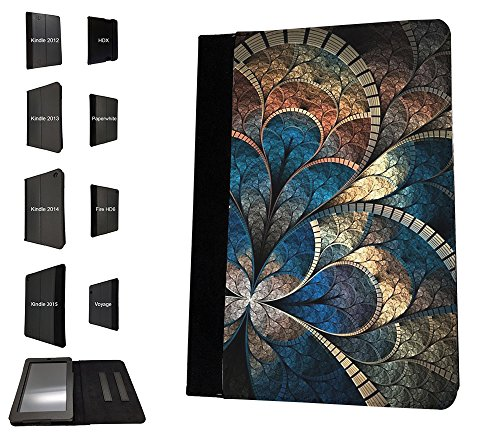 Case Fire 2012 7 Hd Kindle (003562 - Fantasy Abstract Middle east pattern Design Amazon Kindle Fire HD 7'' 1st Generation-2012 TPU Leder Brieftasche Hülle Flip Cover Book Wallet Stand halter Case)