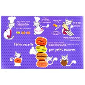 Set table Chat macarons - Plastique
