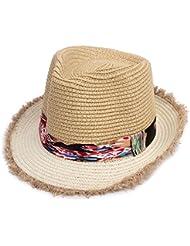 La mujer de ocio Crown soulful volumen hem sui vacaciones de playa sol sombreros de paja, beige oficial