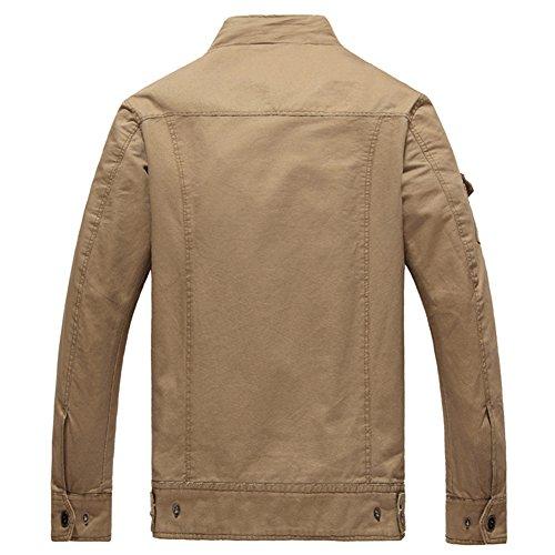 YYZYY Homme Classique Cotton Militaire Flight Jacket Veste Bomber Blousons Manteaux XXS-3XL Kaki