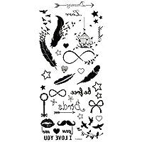 Spestyle waterproof and non toxic Feathers,birds,stars,keys,beards,birdcage temp tattoo stickers