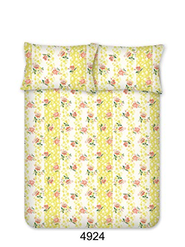 Bombay Dyeing Beeze+ 120 TC Cotton Bedsheet with 2 Pillow Covers - King Size, Yellow