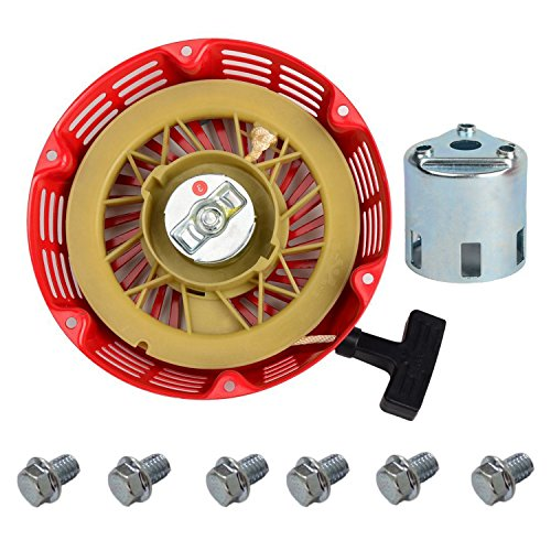 OxoxO Replace Recoil Starter with Starter Cup for HONDA GX240 GX270 8HP 9HP Engine Motor Parts + 6pcs Recoil Starter Bolt -