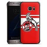 DeinDesign Samsung Galaxy S7 Edge Hülle Case Handyhülle 1. FC Köln Streifen Fanartikel