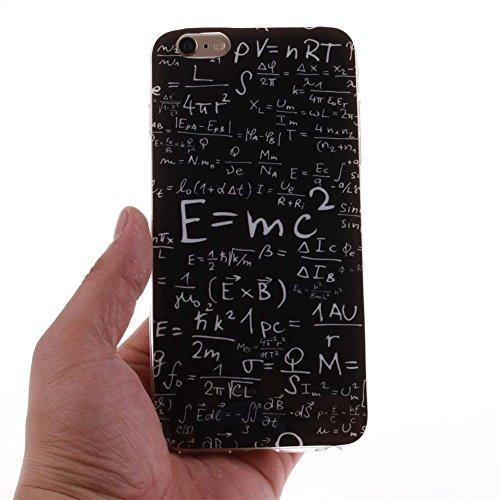 "Hülle für Apple iPhone 6 Plus 6S Plus 5.5"" Handyhülle Dünn Stil Licht Flexibel TPU Gel Case Bumper Malerei Muster Schwarz Löwe Farbe-9"