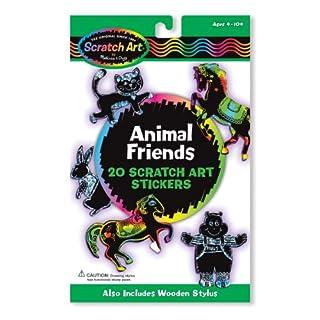 Melissa & Doug Scratch Art-Sticker: Befreundete Tiere