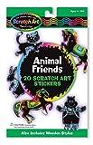 Melissa & Doug 15827 - Scratch Art-Sticker - Befreundete Tiere -