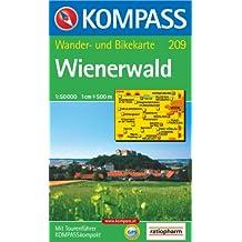 Wienerwald: Wander- und Bikekarte. GPS-genau. 1:50.000